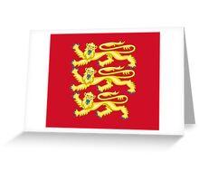 Royal Arms of England - Three Lions - British Flag Football T-Shirt Greeting Card