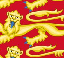 Royal Arms of England - Three Lions - British Flag Football T-Shirt Sticker