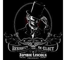 Abraham Lincoln Zombie Photographic Print