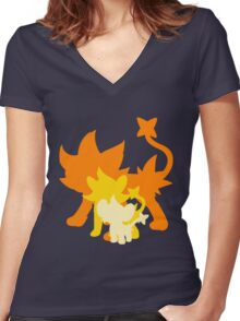 Luxray Women's Fitted V-Neck T-Shirt
