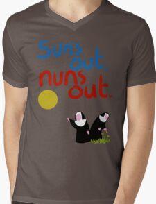 Sun's out, nuns out. Mens V-Neck T-Shirt