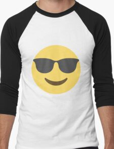 Smiling Face With Sunglasses Emoji Men's Baseball ¾ T-Shirt