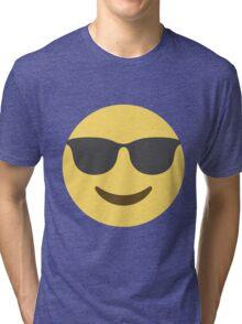 Smiling Face With Sunglasses Emoji Tri-blend T-Shirt