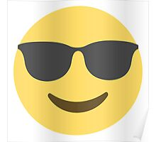 Smiling Face With Sunglasses Emoji Poster