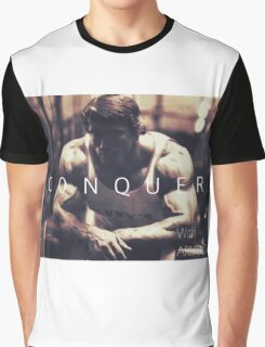 Conquer with Arnold Schwarzenegger Graphic T-Shirt