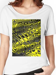 Swirls and Spots - Yellow Women's Relaxed Fit T-Shirt