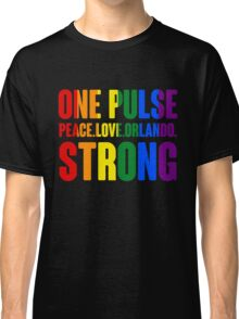 One Pulse Peace Love Orlando Strong Classic T-Shirt