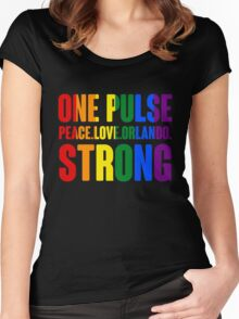 One Pulse Peace Love Orlando Strong Women's Fitted Scoop T-Shirt