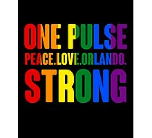 One Pulse Peace Love Orlando Strong Photographic Print