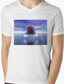 Water Molecule and the Sea Mens V-Neck T-Shirt