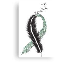 Liver Cancer Awareness Ribbon Canvas Print