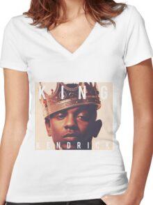 King Kendrick Lamar Women's Fitted V-Neck T-Shirt