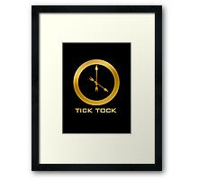 Catching Fire Tick Tock Shirt  Framed Print