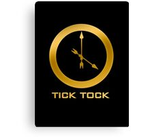 Catching Fire Tick Tock Shirt  Canvas Print
