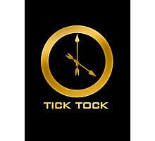 Catching Fire Tick Tock Shirt  Photographic Print