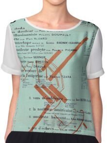 Dada Poster - Creative Commons Chiffon Top