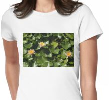Exotic Colored Waterlilies in the Hot Mediterranean Sun Womens Fitted T-Shirt