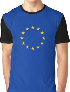 EU Flag Dress - European Union Sticker Graphic T-Shirt