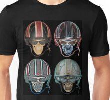 Demon Skull Biker Helmet glasses on Unisex T-Shirt