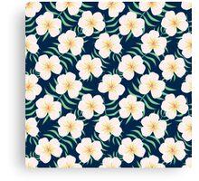 Plumeria design. Elegant floral print Canvas Print