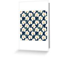 Plumeria design. Elegant floral print Greeting Card