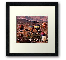 Balloons In The Desert Framed Print