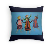 Dancing Girls Pillow and Tote Bag Throw Pillow