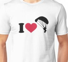 I love Sky diving Unisex T-Shirt