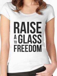Hamilton - Raise a Glass to Freedom Women's Fitted Scoop T-Shirt