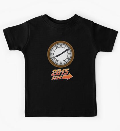 Back to the Future Clock 2015 Kids Tee