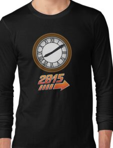 Back to the Future Clock 2015 Long Sleeve T-Shirt