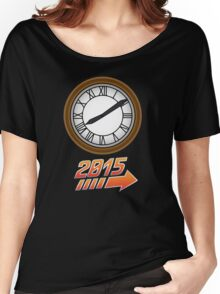 Back to the Future Clock 2015 Women's Relaxed Fit T-Shirt