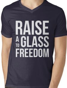 Hamilton - Raise a Glass to Freedom Mens V-Neck T-Shirt