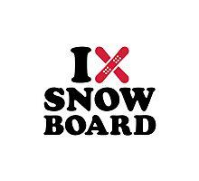 I love Snowboard Photographic Print