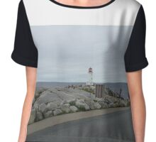 Peggy's Cove landmark lighthouse Chiffon Top