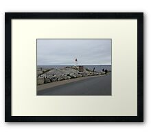 Peggy's Cove landmark lighthouse Framed Print