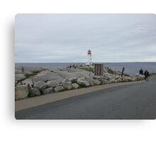 Peggy's Cove landmark lighthouse Canvas Print