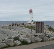 Peggy's Cove landmark lighthouse Sticker