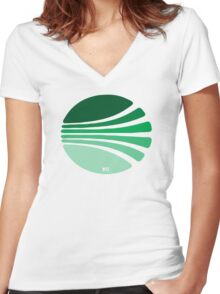 Circle of lines lovely T-shirt Women's Fitted V-Neck T-Shirt