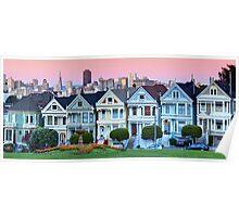 San Francisco Painted Ladies Poster