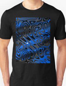 Swirls and Spots - Blue Unisex T-Shirt