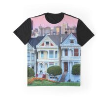 San Francisco Painted Ladies Graphic T-Shirt