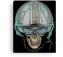 Skull Undead Demon Biker Helmet Canvas Print