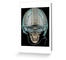 Skull Undead Demon Biker Helmet Greeting Card