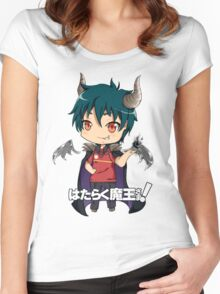 chibi devil is a part timer  Women's Fitted Scoop T-Shirt
