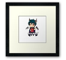 chibi devil is a part timer  Framed Print