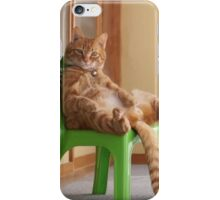 The most chilled out cat! iPhone Case/Skin