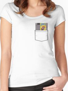 Mario 3 - NES Pocket Series Women's Fitted Scoop T-Shirt