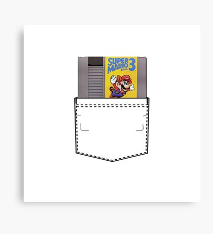 Mario 3 - NES Pocket Series Canvas Print