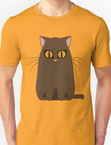 Brown Graphic Kitty Unisex T-Shirt